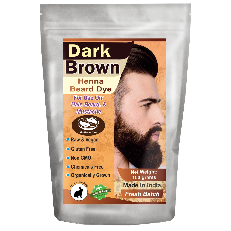1 Pack of Dark Brown Henna Beard Dye for Men - 100% Natural & Chemical Free Dye for Hair, Beard & Mustache - The Henna Guys by The Henna Guys