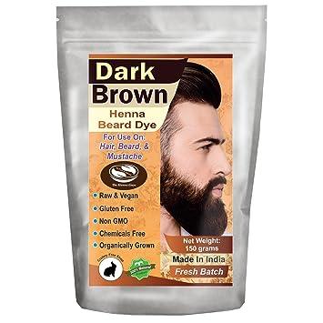 Amazon.com : 1 Pack of Dark Brown Henna Beard Dye for Men - 100 ...