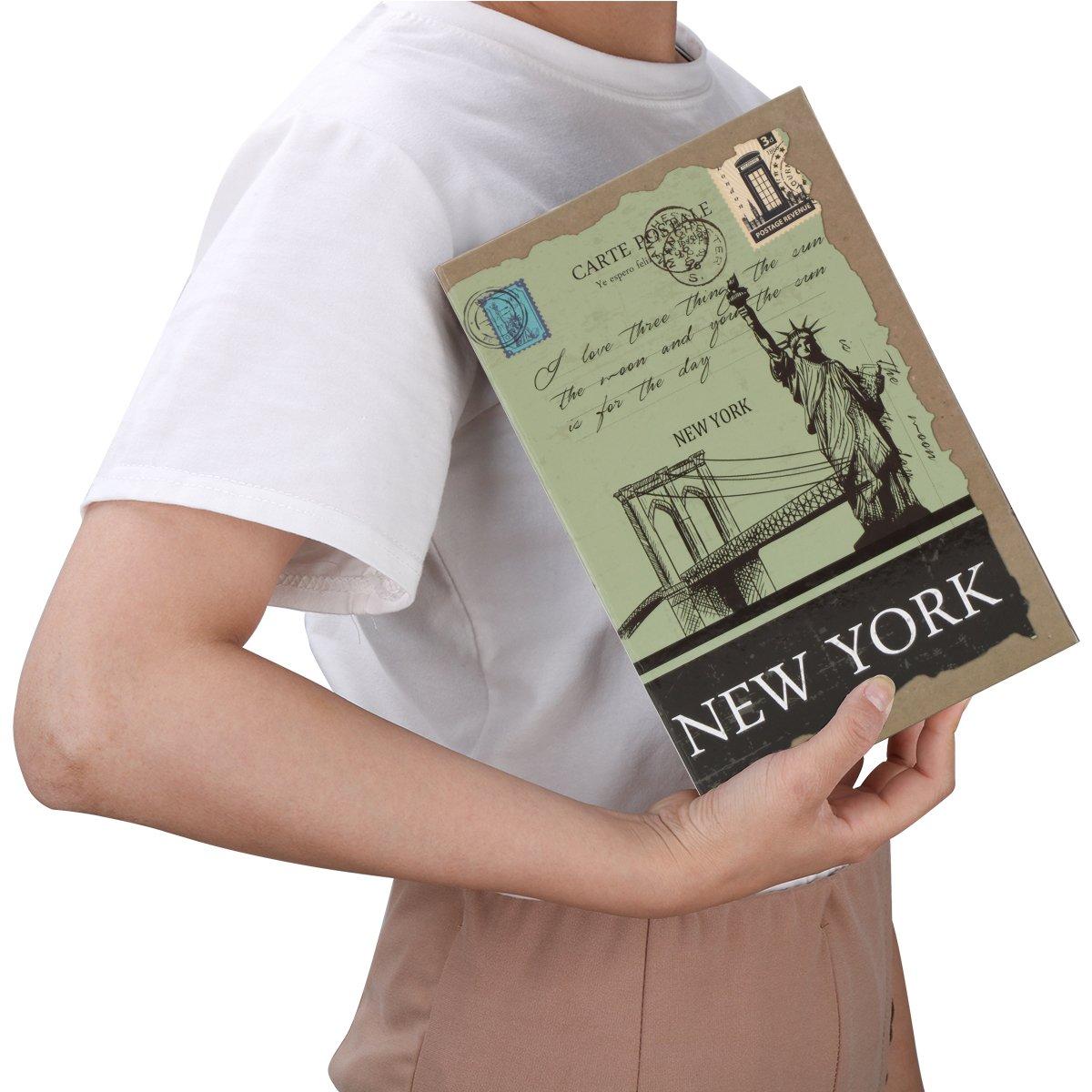 Diversion Book Safe with Combination Lock, Decaller Safe Secret Hidden Metal Lock Box, 9 1/2'' x 6'' x 1 1/3'', New York by Decaller (Image #5)