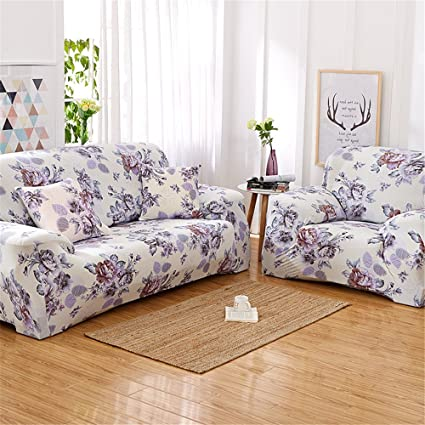 Amazon.com: NHockeric Flowers Couch Sofa Covers For Living ...