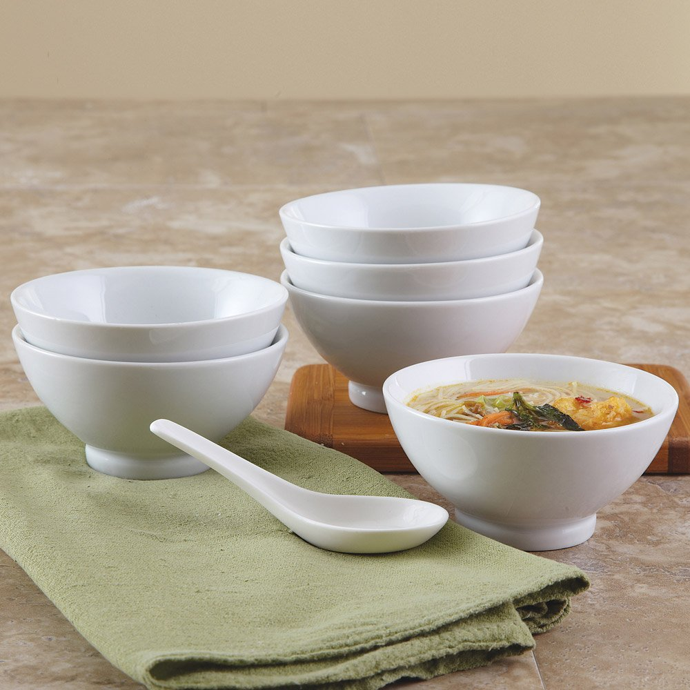 BIA Cordon Bleu 24-Ounce White Porcelain Chowder Bowls, Set of 4 (900134)