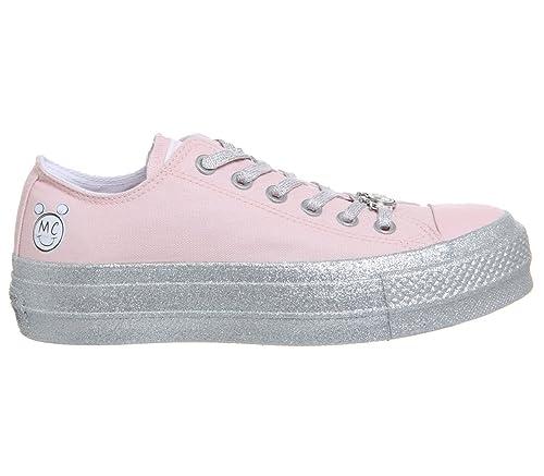 4a5e40ed320 Converse Womens x Miley Cyrus Chuck Taylor All Star Lo Sneaker (Mens 4  Womens