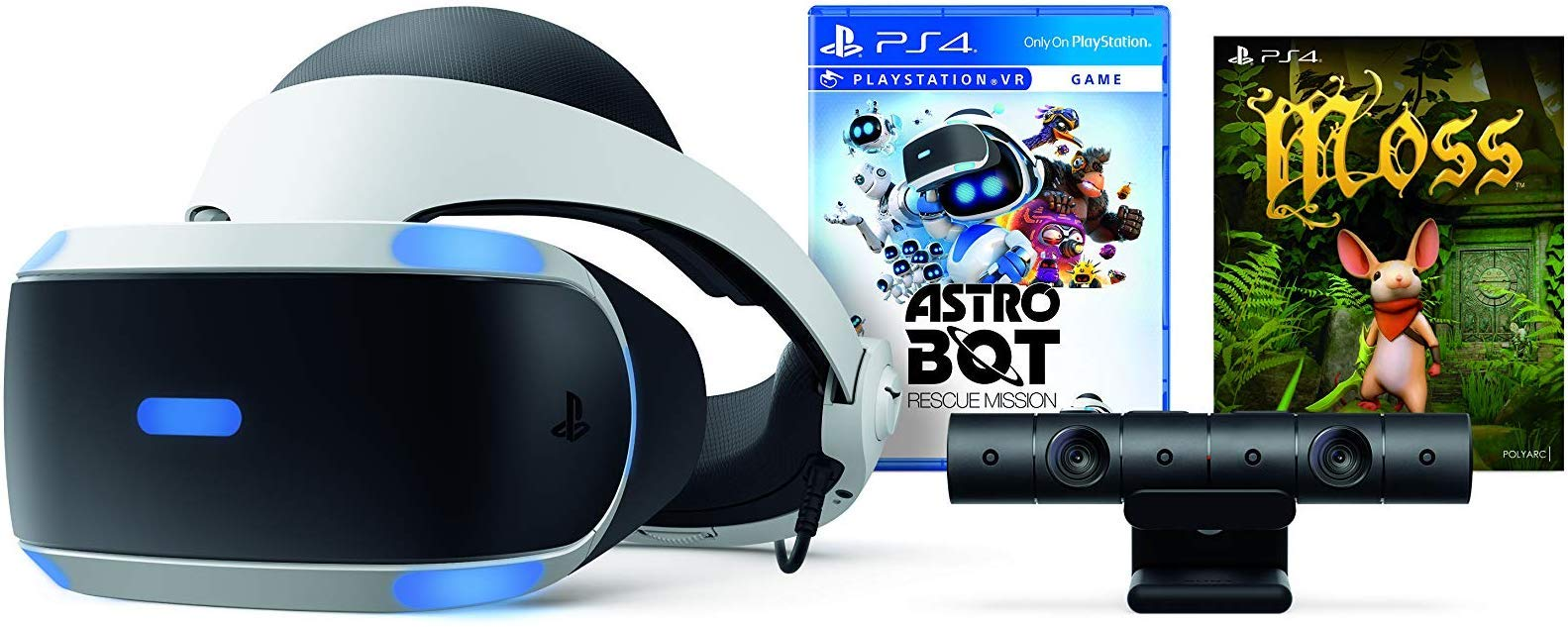 PlayStation VR - ASTRO BOT Rescue Mission + Moss Super Bundle: PlayStation VR headset, PlayStation Camera, Demo Disc 2.0, ASTRO BOT Rescue Mission + Moss by Sony