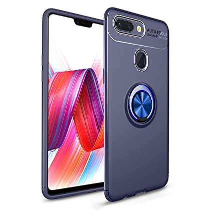competitive price 32a2f 0bd7c Spazy Case® Oppo A7 / Oppo A5s Back Case Cover Shock Proof Ring Stand for  Oppo A7 / Oppo A5s -Blue