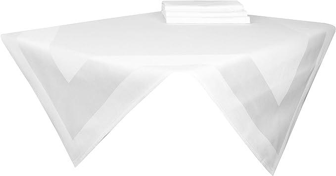 80x80 cm Otras Medidas 100/% algod/ón ZOLLNER 4 cubremanteles Orla Satinada