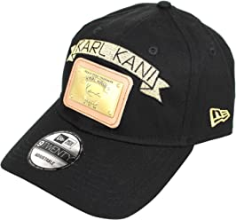 new product c0156 9bce5 Karl Kani New Era Gold Plate Dad Hat Embroidered Baseball Cap Black Red  White
