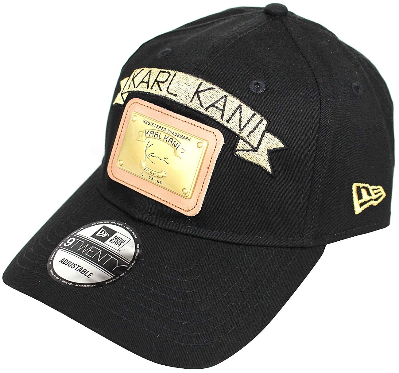 Karl Kani New Era Gold Plate Dad Hat Embroidered Baseball Cap Black Red  White at Amazon Men s Clothing store  1e2a69a5788