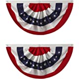 Nantucket Home Traditional Red, White and Blue Buntings, 40-Inch x 20-Inch, Set of 2