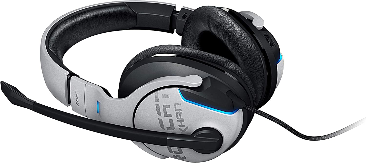 ROCCAT Khan Aimo White 7.1 High Resolution RGB Gaming Headset