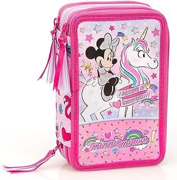 Inacio Disney Minnie Mouse XL Bolsa de Primavera, Bolsa de Plumas, Plumero, Estuches, Caja de Lápices, Estuche 44 Piezas, Unicornio: Amazon.es: Juguetes y juegos