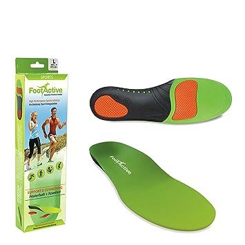 FootActive NATURE - Una suela de soporte del arco de longitud ¾ para aliviar la Fascitis Plantar, los dolores del talón, la rodilla y la espalda. XS(36-38)