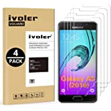 iVoler [4 Unidades] Protector de Pantalla Compatible con Samsung Galaxy A5 2016, Cristal Vidrio Templado Premium [Dureza 9H] [Anti-Arañazos] [Sin Burbujas]
