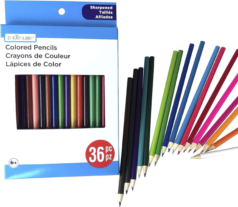 Lápices De Colores-Art Craft-Nuevo Paquete de 24 de tamaño completo afilado Color