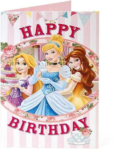 Disney Princess Joyeux Anniversaire Carte Amazon Fr Fournitures De Bureau