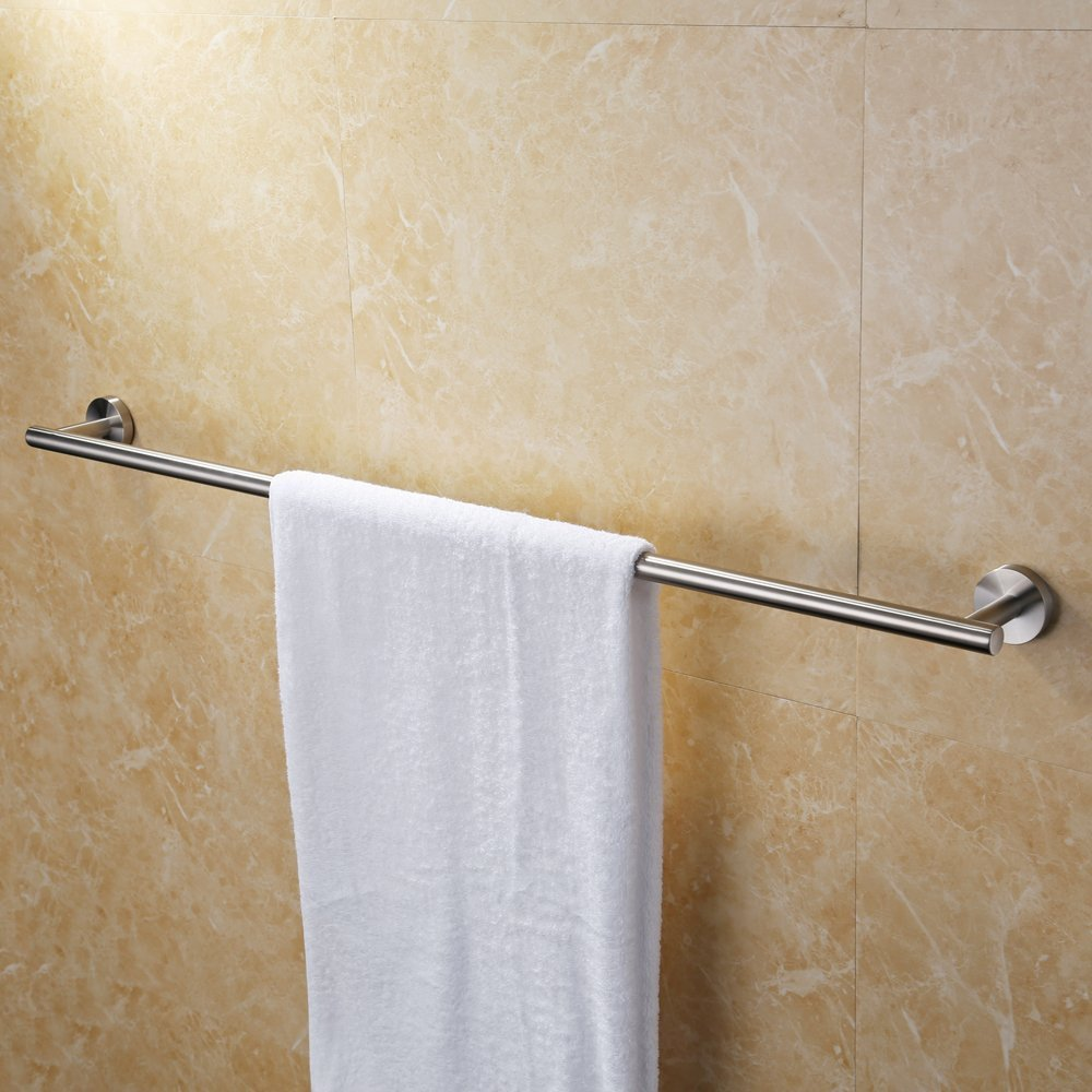 (90cm, Brushed) - KES 90cm Towel Bar Bathroom Shower Organisation Bath Single Towel Hanger Holder Brushed SUS 304 Stainless Steel Finish, A2000S36-2 B01MRVUK67 36-Inch|Brushed Brushed 36Inch