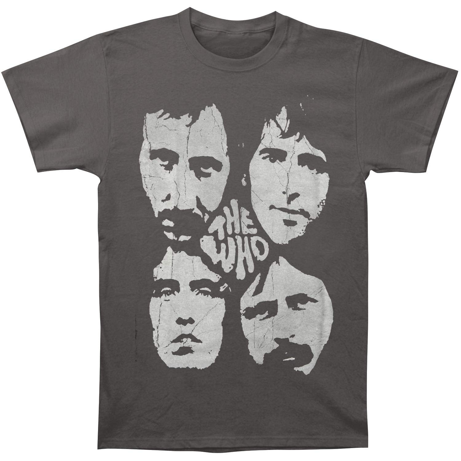 Who Distressed Four Faces T Shirt Grey 1950
