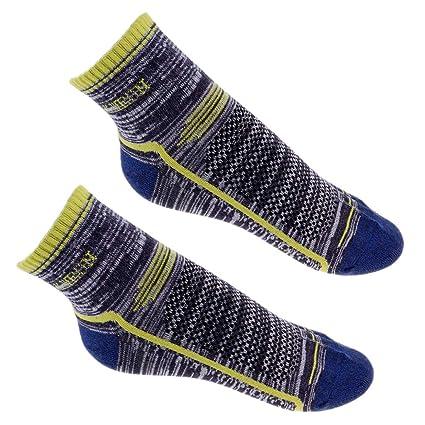 perfeclan 1 Pares Calcetines de Invierno Largos para Adulto Hombre Mujer - Azul Oscuro