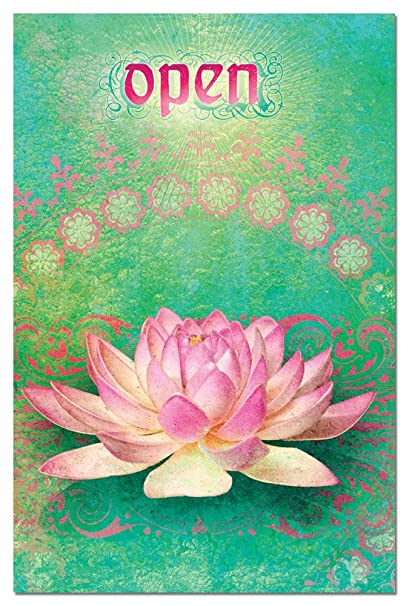 Amazoncom Open Lotus Flower Blank Boxed Note Cards With Envelopes