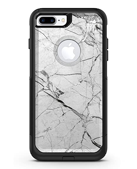 huge selection of 78282 c083f Amazon.com: Cracked White Marble Slate - iPhone 7 Plus OtterBox ...