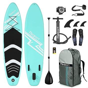 FBSPORT Sup Hinchable, 15cm de Espesor Tabla de Surf Sup Paddleboard, Tabla Inflable de Paddle Surf, Set de Sup con Tabla y Accesorios