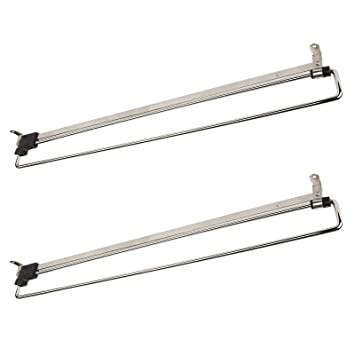 2 x SO-Tech® Percha Soporte Colgador Extraíble Perchero Telescópico para Armario 500 mm