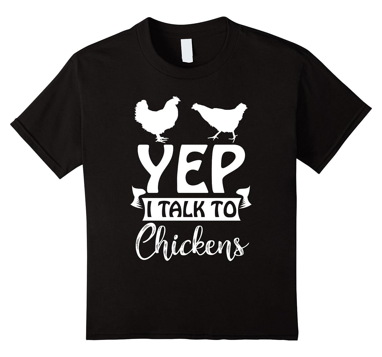 Womens Chicken Lady T Shirt Chickens-Teevkd