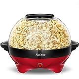 Popcorn Machine, 6-Quart Popcorn Popper maker, Nonstick Plate, Electric Stirring with Quick-Heat Technology, Cool Touch Handl