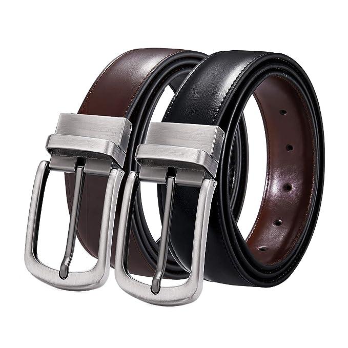 ITIEZY Hombres Cinturón de Cuero de2dfb3a8aaa