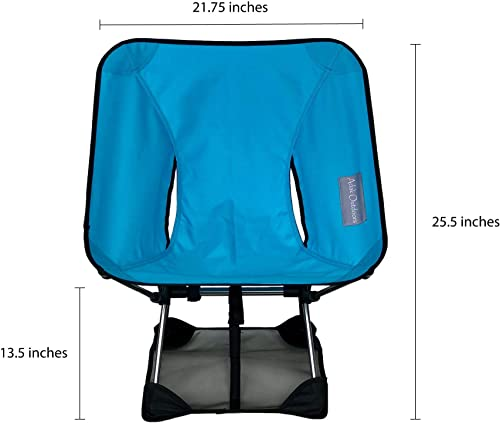 Adak Outdoors Backpacking Chair Ultralight – with Mat Prevents Chair from Sinking in Soft Ground , Portable, Foldable, Camping, Beach, Picnic, Hiking Chair, Carry Bag