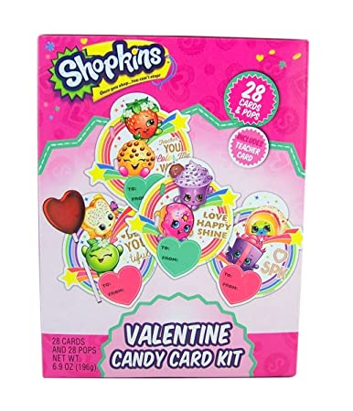 Amazon Com Shopkins Valentine S Day Candy Card Exchange Kit 28