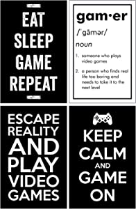 Damdekoli Gaming Posters - 11x17 Inches, Black