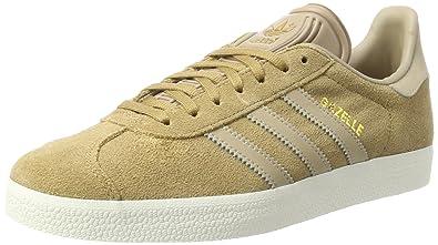 adidas Gazelle, Sneakers Basses Homme, Beige (Cardboard/Trace Khaki F17/off