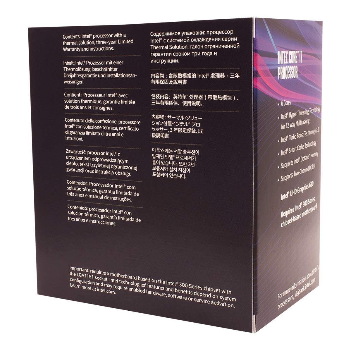 Intel Core i7-8700 Desktop Processor 6 Cores up to 4 6 GHz LGA 1151 300  Series 65W
