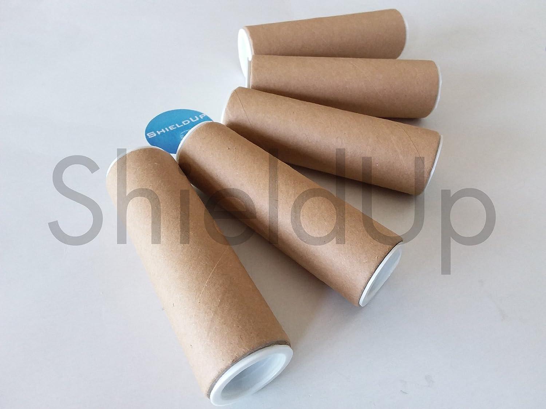 5x Shieldup Strong Cardboard Postal Tubes | 25mm di diametro 100mm di lunghezza