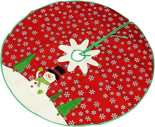 Hzb821zhup - Falda para árbol de Navidad, diseño de Copo de Nieve ...