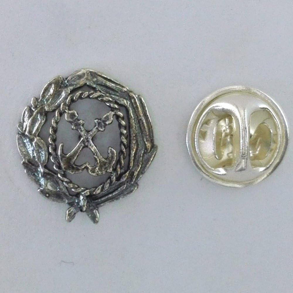 Insigne de la marine marchande Comprend /Étui pour cadeau de No/ël JOYERIA en argent de loi 925/by alylosilver.