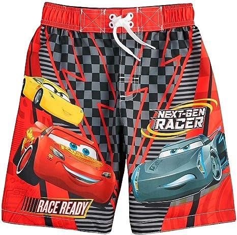NEW BOYS DISNEY CARS LIGHTNING MCQUEEN RED BLACK SWIM SHORTS 2 4 5//6 7//8  9//10