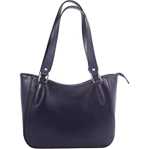d73967bc9a OH MY BAG Sac à main haut de gamme en cuir délavé Miss Oh bleu foncé ...