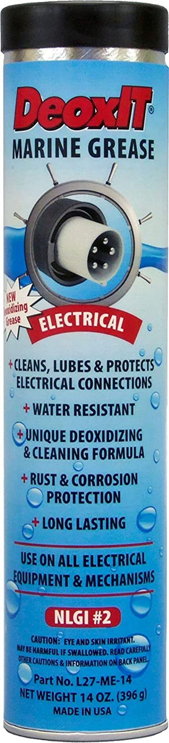 CAIG Laboratories, DeoxIT, L27-ME, Electrical Marine Grease, 396 Grams Grease Tube for Grease Gun