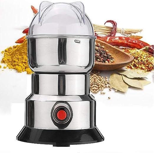 Molinillo de caf/é el/éctrico Multifuncional Nueces del hogar Granos Frijoles Hierbas Especias Molienda Durable para Granos de caf/é nueces Granos Molinillo de caf/é el/éctrico