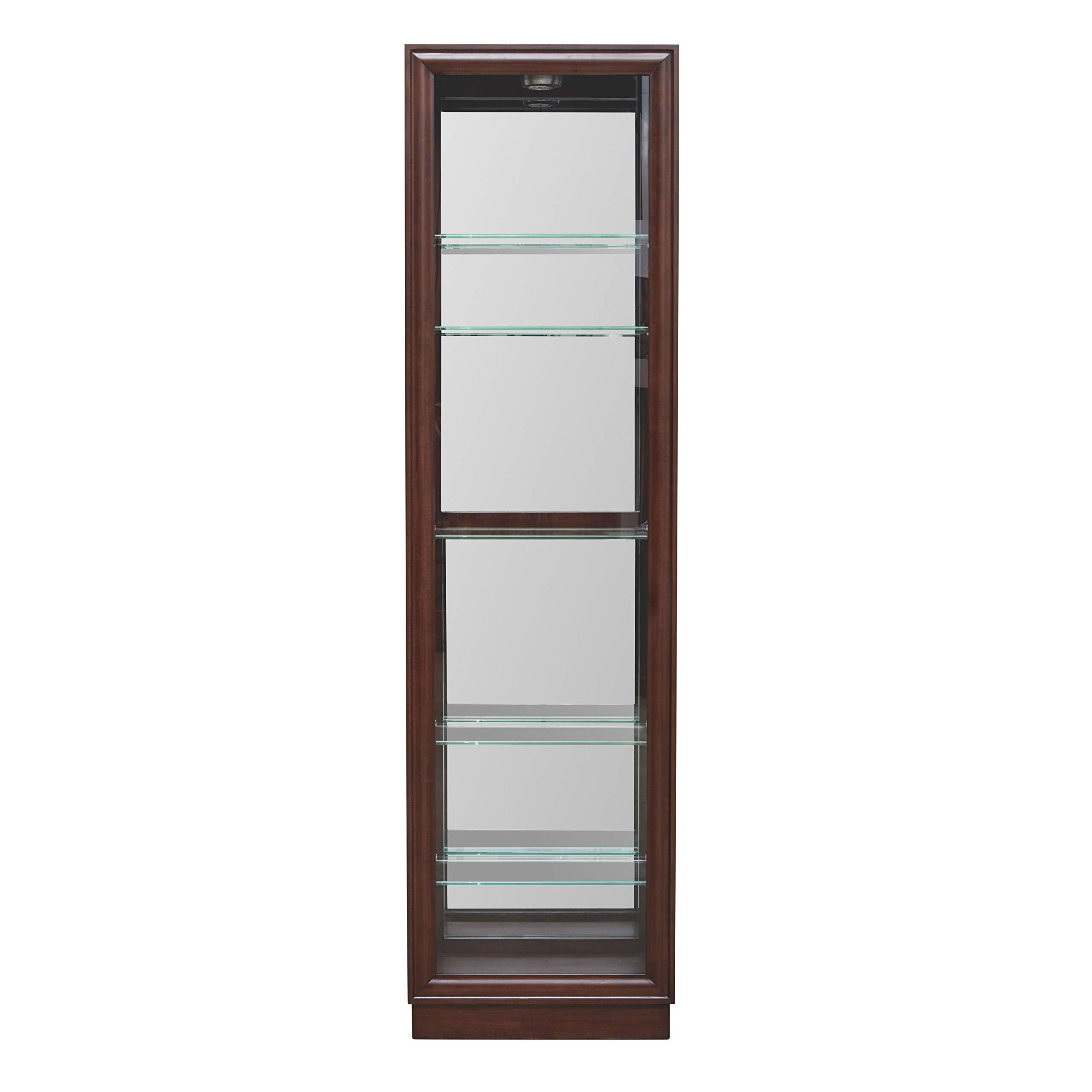 Pulaski  Side Entry Curio Display Cabinet, 21.0'' L x 11.0'' W x 77.0'' H, Cherry by Pulaski (Image #2)