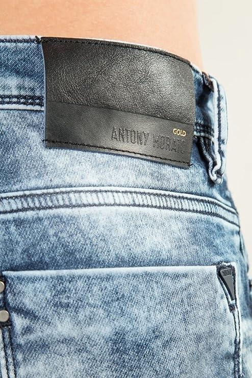 Antony Morato Duran Carrot Fit Jeans Light Blue 34 LONG Light Blue   Amazon.co.uk  Clothing 8c3306010b5