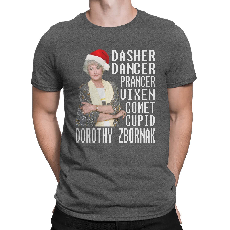 Zoko Apparel Dasher Dancer Prancer Vixen Comet Cupid Dorothy Christmas T-Shirt