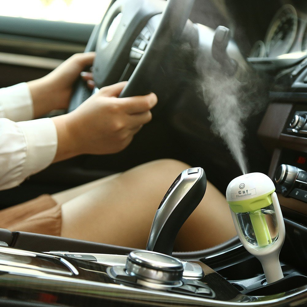 Portable Usb Car Humidifier 2 Hours Shut-off Ultrasonic Mist Maker Fogger Aroma Essential Oil Diffuser Aromatherapy Air Purifier For Travel/Office/Car/Home (Pink) by PIUPIU (Image #4)