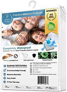 Mother Nurture Full Size Premium Hypoallergenic Waterproof Mattress Bed Protector - BPA, Bleach Free