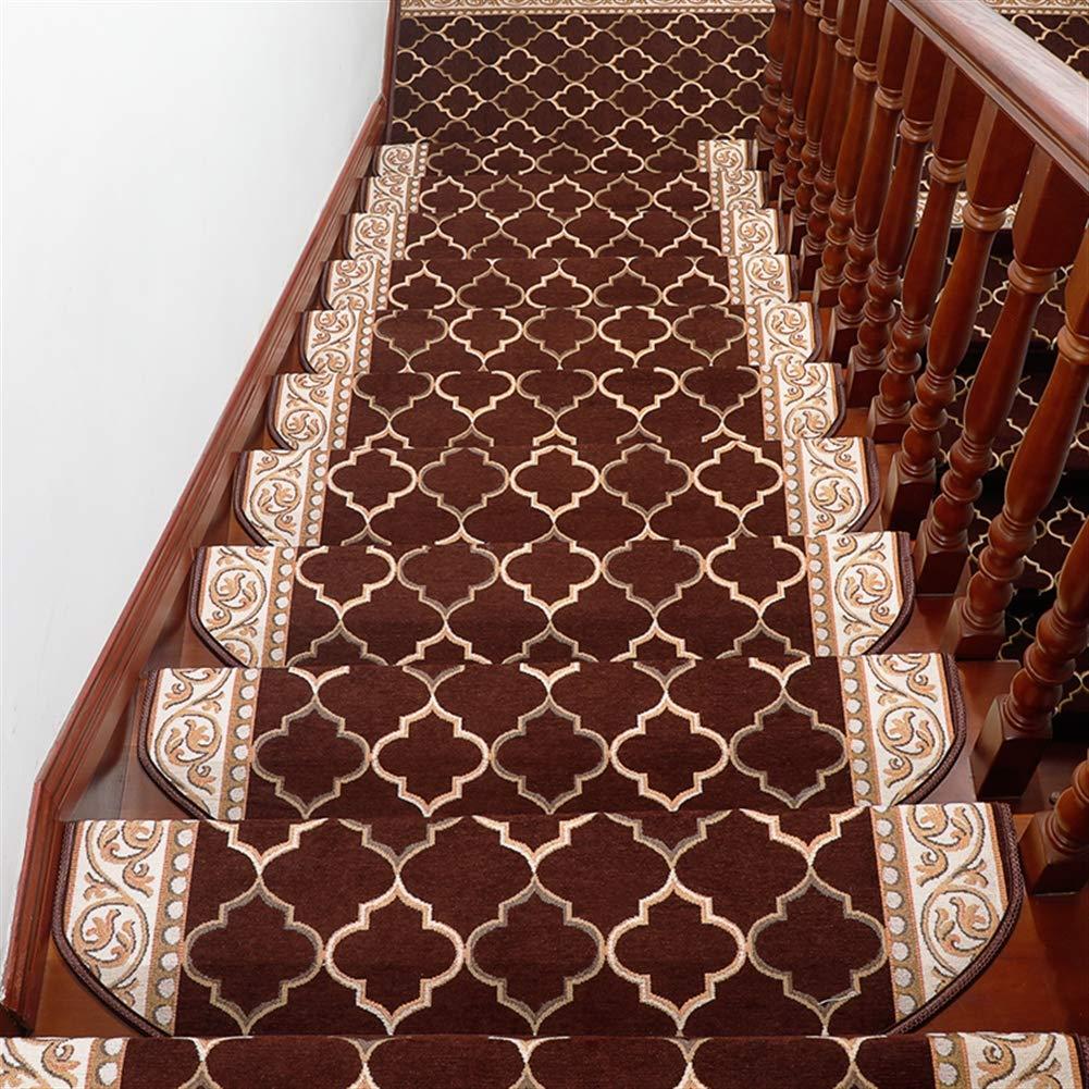 Liveinu Moderner Stil Selbstklebend Stufenmatten Treppen Teppich Waschbar Starke Befestigung Anthrazit Treppen-Matten 30x85cm (15 Stück) Kaffee Rechteck B07MH47RTL Stufenmatten