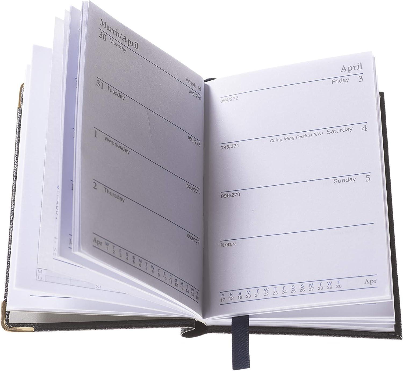 Black 392BP.99-21 Collins 392BP Regal Week to View 2021 Diary with Pencil