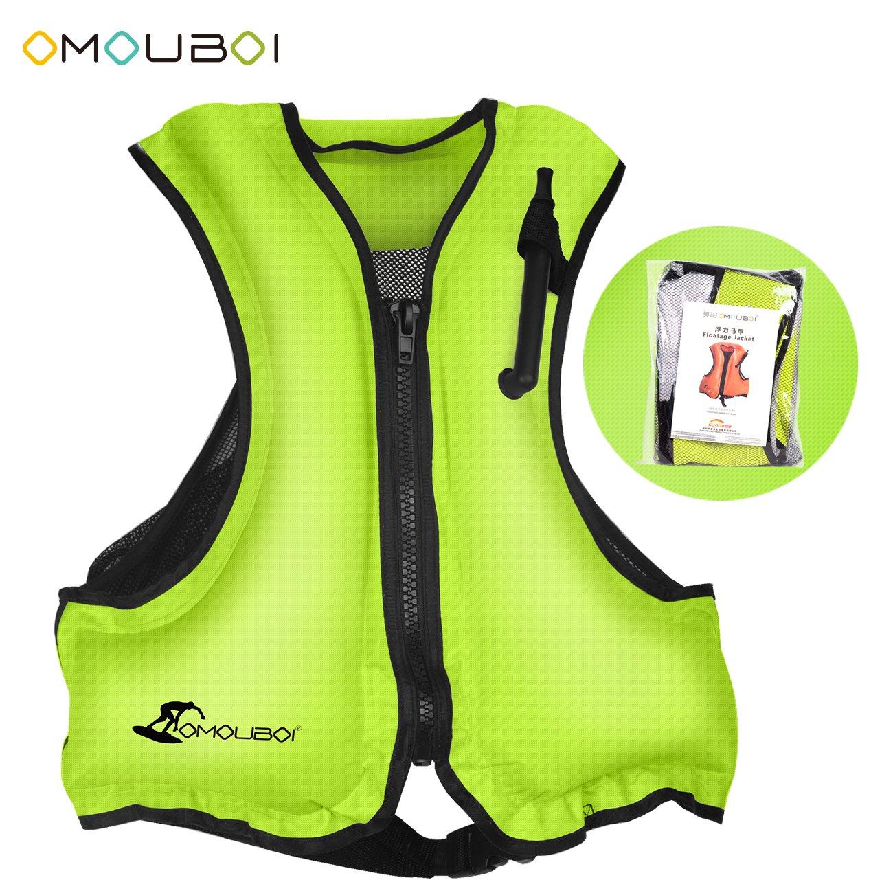 OMOUBOI シュノーケルベスト インフレータブル ライフ 水泳ベスト シュノーケリング用   B07FLCHTD6