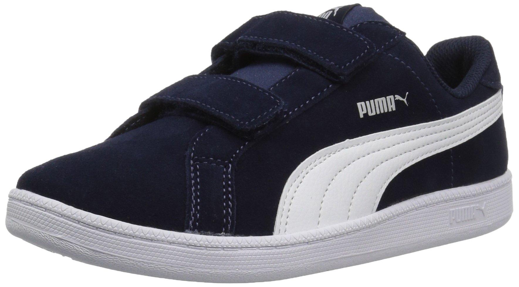 PUMA Baby Smash Fun SD Velcro Kids Sneaker, Peacoat White, 5 M US Toddler