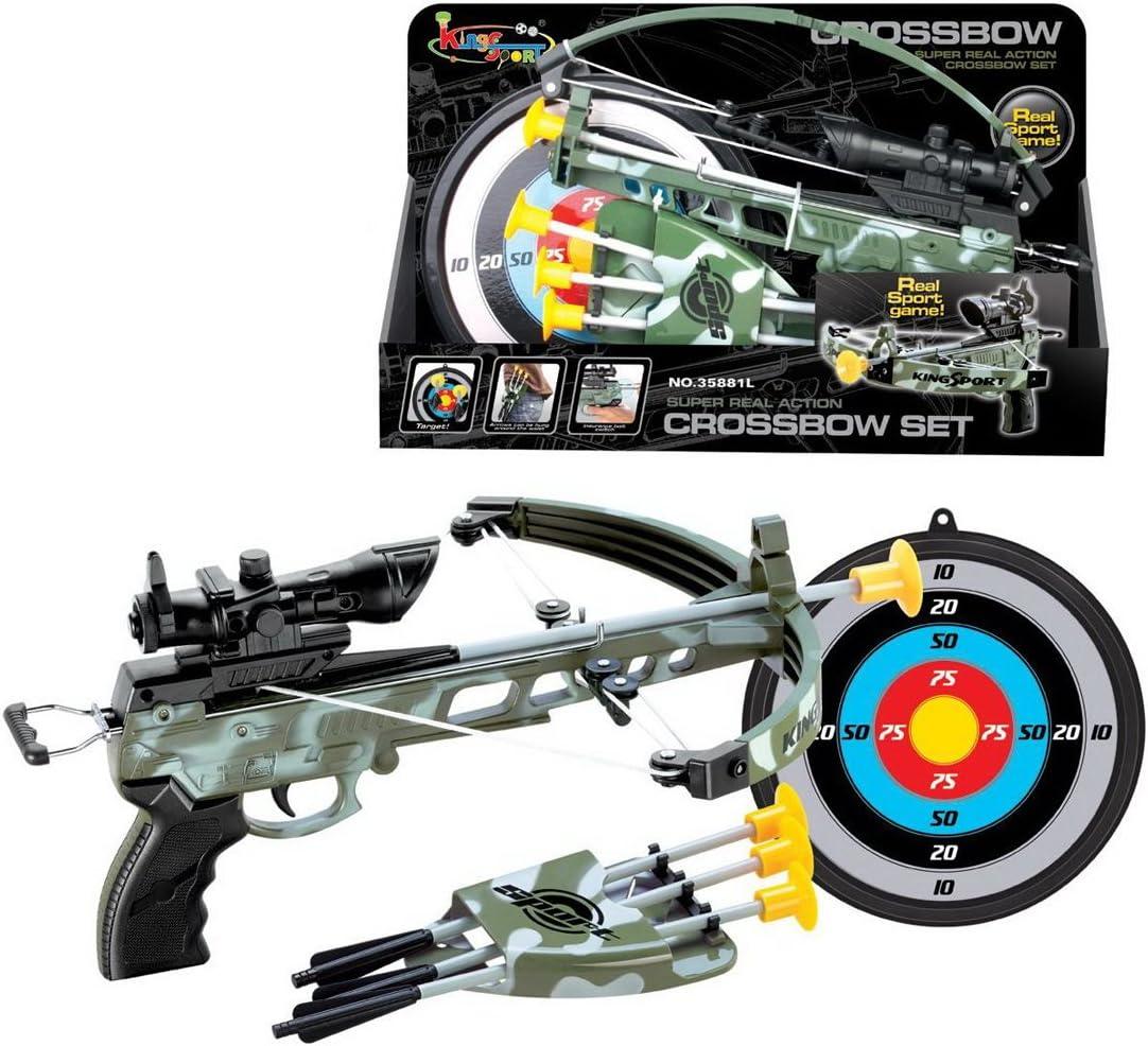 ZUJI 6 Piezas Arcos y Flechas de Juguete Sets de Tiro con Arco Ballesta Juguete Juego de Disparos para Niños
